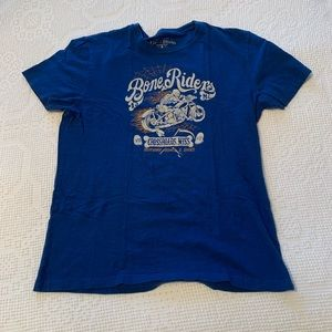 Lucky Brand Mens Tee Blue Large